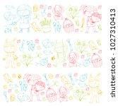 spring children banners kids... | Shutterstock .eps vector #1027310413