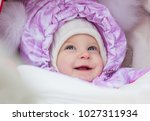 cute laughing baby girl...   Shutterstock . vector #1027311934