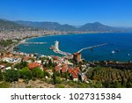 red tower and marina view from... | Shutterstock . vector #1027315384