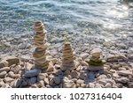 stones on srebrna  silver ... | Shutterstock . vector #1027316404