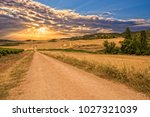 sunset on the road to santiago... | Shutterstock . vector #1027321039