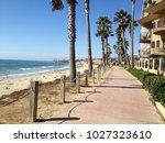 beach side boardwalk  san diego ... | Shutterstock . vector #1027323610