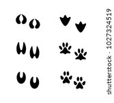 animal tracks. information for... | Shutterstock .eps vector #1027324519