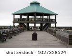 folly beach south carolina ... | Shutterstock . vector #1027328524