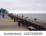 folly beach south carolina ... | Shutterstock . vector #1027328530