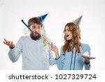 joy  holiday birthday  female... | Shutterstock . vector #1027329724