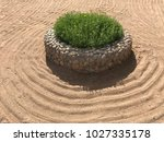 sand on the beach  in the... | Shutterstock . vector #1027335178