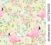seamless gentle pattern with... | Shutterstock .eps vector #1027336333