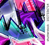 psychedelic urban colored... | Shutterstock .eps vector #1027336714