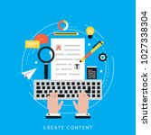 web content strategy process ... | Shutterstock .eps vector #1027338304