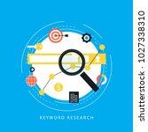 keywording  seo keywording... | Shutterstock .eps vector #1027338310