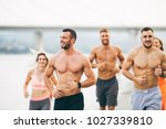 group of young attractive... | Shutterstock . vector #1027339810