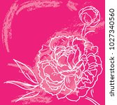 decorative floral illustration... | Shutterstock .eps vector #1027340560