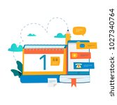calendar  planner  schedule ... | Shutterstock .eps vector #1027340764