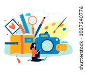 design studio  designing ... | Shutterstock .eps vector #1027340776