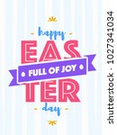 easter greeting card with wish  ... | Shutterstock .eps vector #1027341034