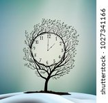 spring time  spring clock ... | Shutterstock .eps vector #1027341166