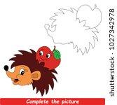 drawing worksheet for preschool ... | Shutterstock .eps vector #1027342978