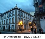 the old building in the ourense ... | Shutterstock . vector #1027343164