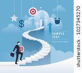 businessman holding target... | Shutterstock .eps vector #1027345270