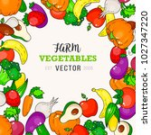 vegetable fruit background.... | Shutterstock .eps vector #1027347220