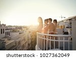 on the terrace | Shutterstock . vector #1027362049