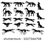 illustrations of wolf... | Shutterstock .eps vector #1027366708