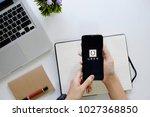chiang mai thailand   feb 18 ... | Shutterstock . vector #1027368850