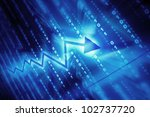 blue data space abstract... | Shutterstock . vector #102737720