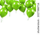 green baloons on the upstairs... | Shutterstock . vector #1027388716