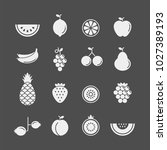 fruits and berries flat vector... | Shutterstock .eps vector #1027389193