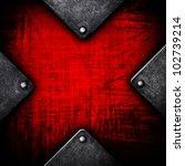 Grunge Metal With X Pattern
