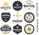 nautical retro vector logo for... | Shutterstock .eps vector #1027392970