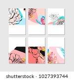 set of artistic creative... | Shutterstock .eps vector #1027393744
