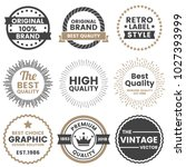 vintage retro vector logo for... | Shutterstock .eps vector #1027393999