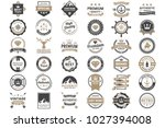 vintage retro vector logo for... | Shutterstock .eps vector #1027394008
