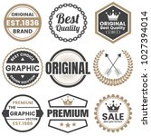 vintage retro vector logo for... | Shutterstock .eps vector #1027394014
