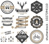 vintage retro vector logo for... | Shutterstock .eps vector #1027394110