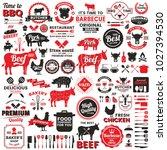 restaurant retro vector logo... | Shutterstock .eps vector #1027394530