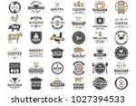 restaurant retro vector logo... | Shutterstock .eps vector #1027394533