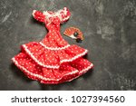 flamenco traditional dress for... | Shutterstock . vector #1027394560