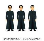 cool men  in flat style... | Shutterstock .eps vector #1027398964