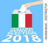 italian general election 2018... | Shutterstock .eps vector #1027402714