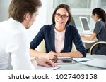 business people working with... | Shutterstock . vector #1027403158