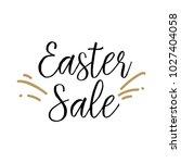 easter sale lettering | Shutterstock .eps vector #1027404058