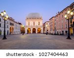 main downtown of italian city... | Shutterstock . vector #1027404463