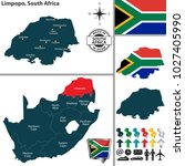 vector map of limpopo province... | Shutterstock .eps vector #1027405990