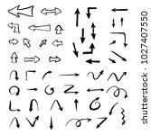set of hand drawn different... | Shutterstock .eps vector #1027407550