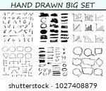 big set of hand drawn arrow and ... | Shutterstock .eps vector #1027408879