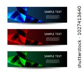 abstract header designs with... | Shutterstock .eps vector #1027413640
